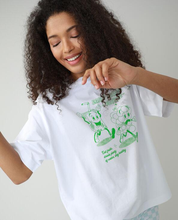 T-shirt oversize à message blanc - Pimkie