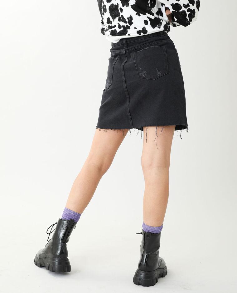 Jupe en jean noir - Pimkie