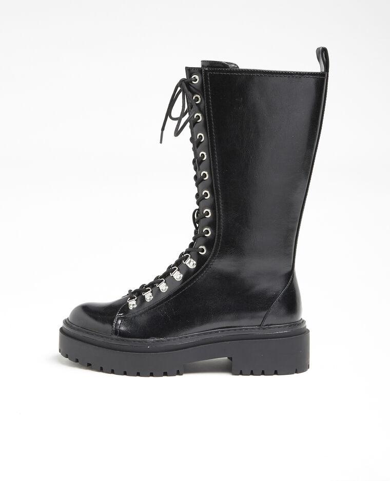 Boots rock hautes noir