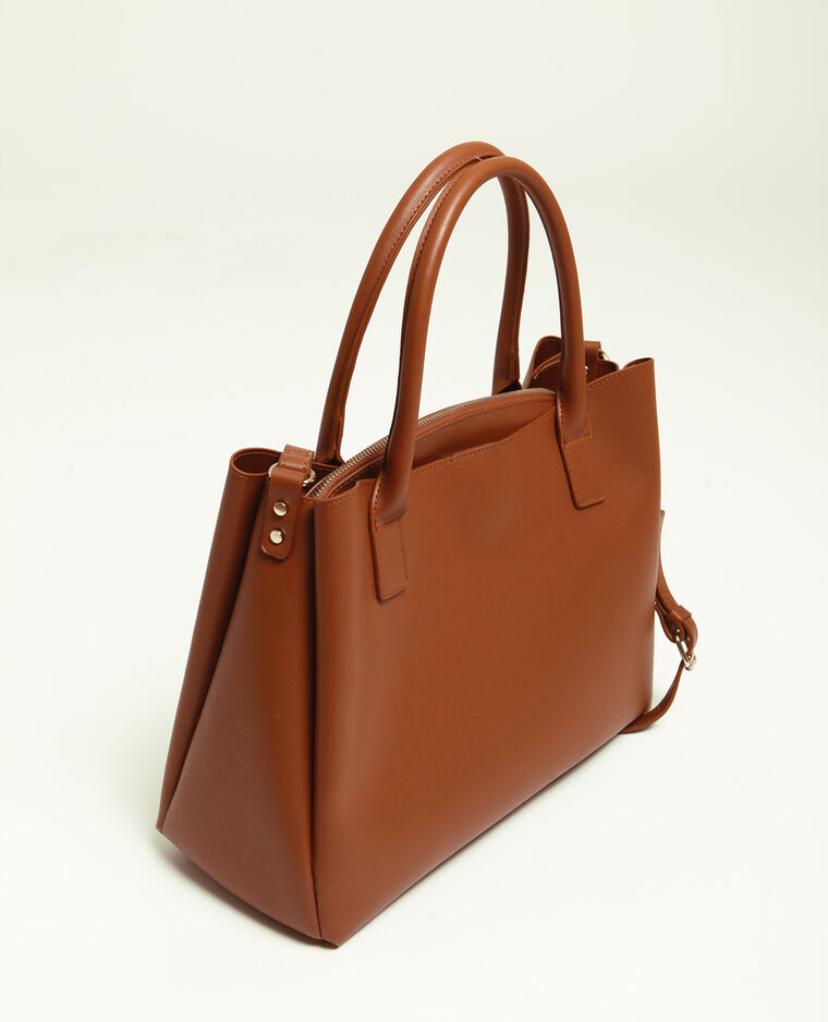 Grand sac en simili cuir caramel