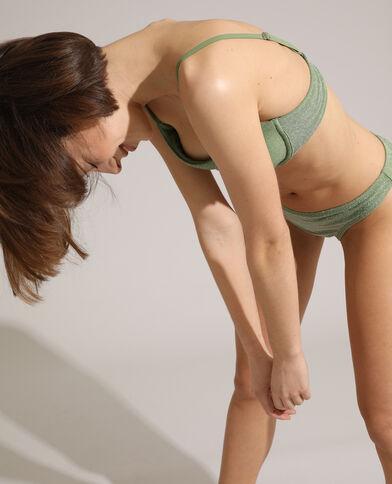 Bas de maillot culotte pailleté vert