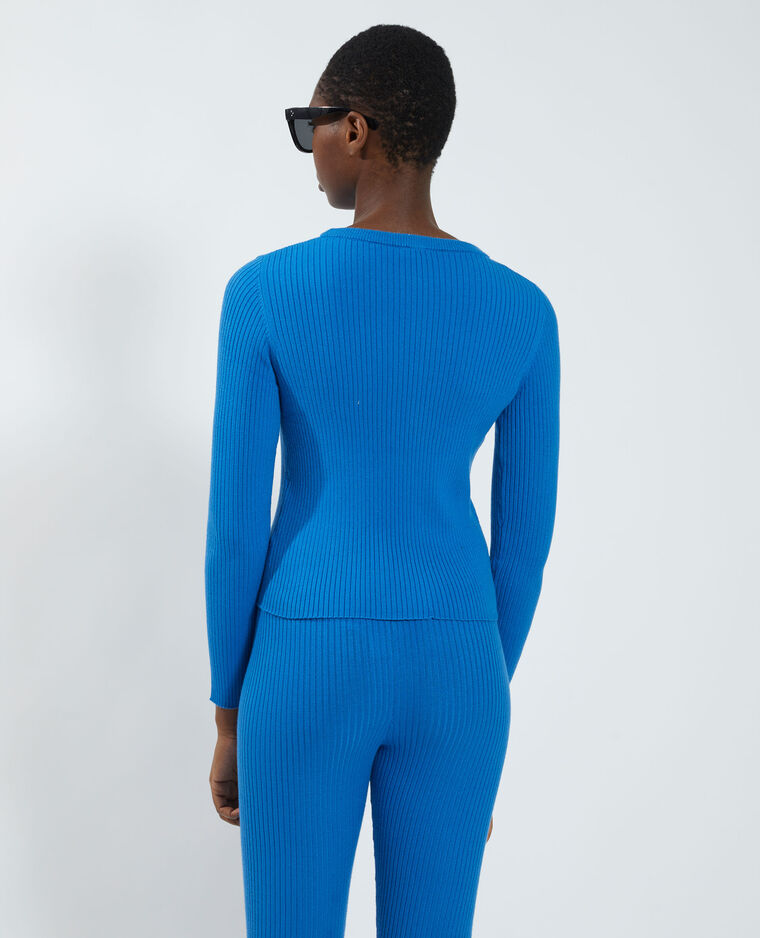 Pull côtelé Bleu - Pimkie