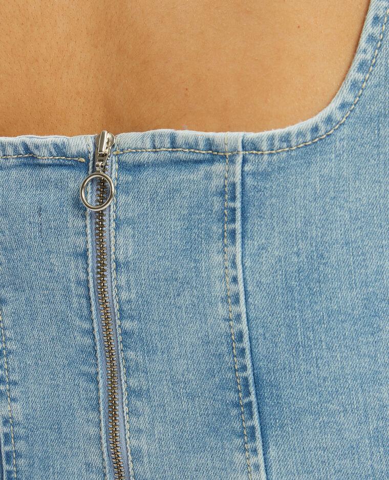 Top court en jean bleu - Pimkie
