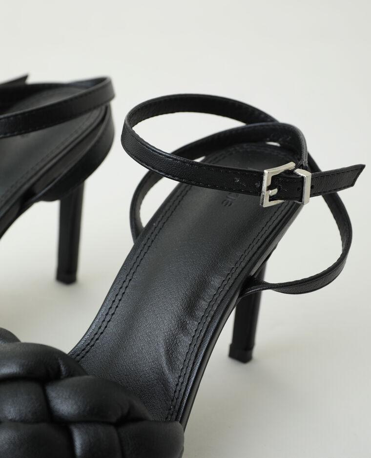Sandales tressées à talons aiguilles noir - Pimkie