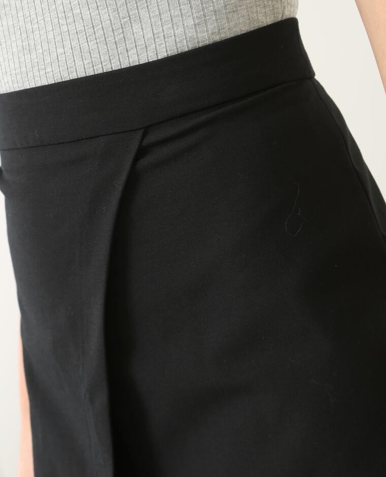 Jupe portefeuille noir