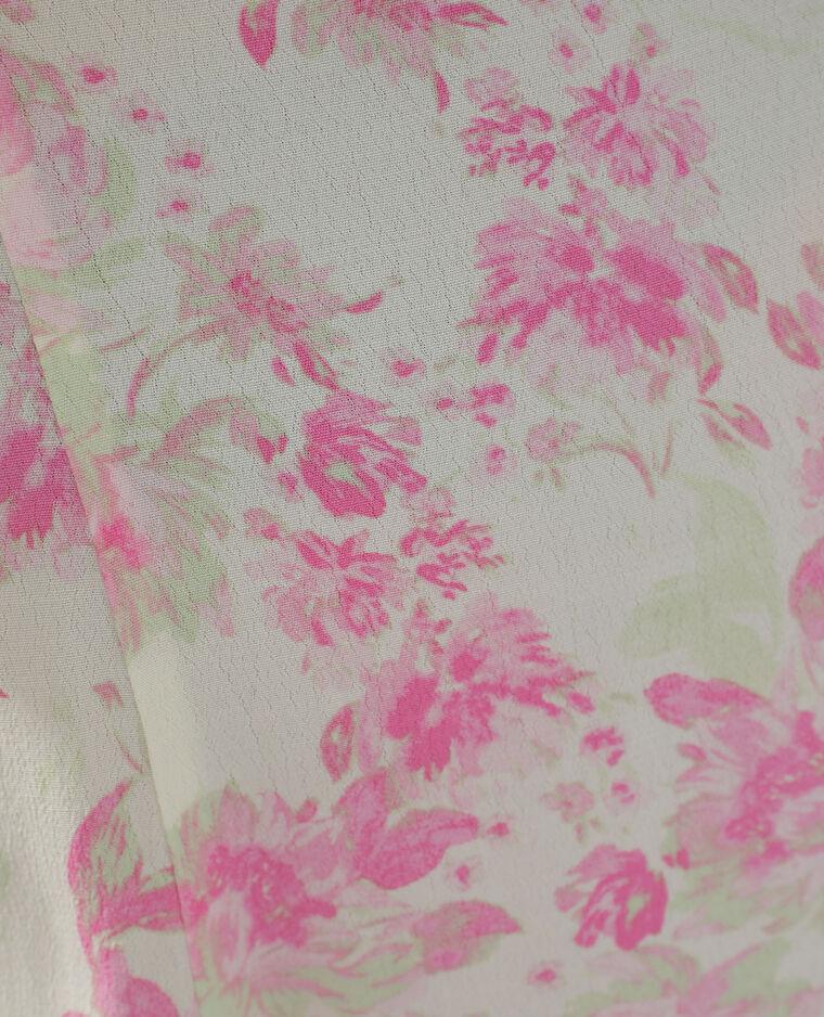Robe longue fleurie blanc cassé - Pimkie