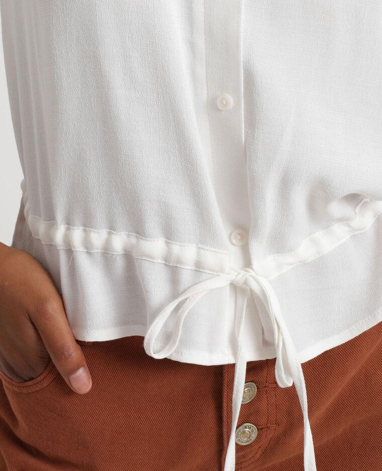Chemisier à manches courtes blanc