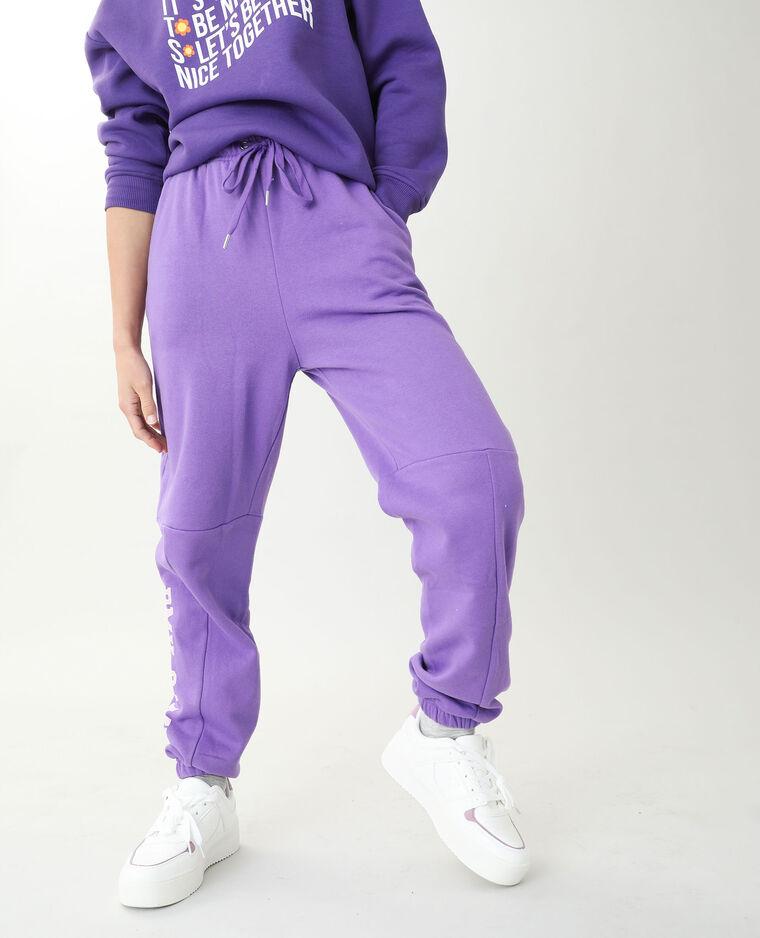 Jogging molleton violet
