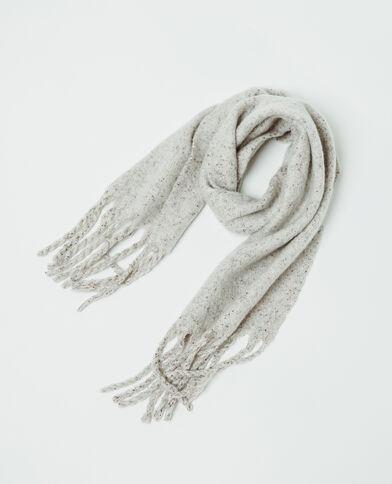 Echarpe à franges gris