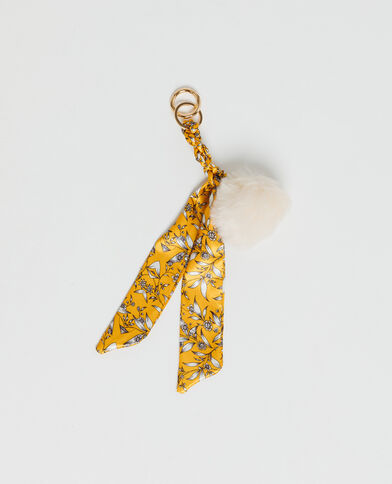 Porte-clés ruban jaune
