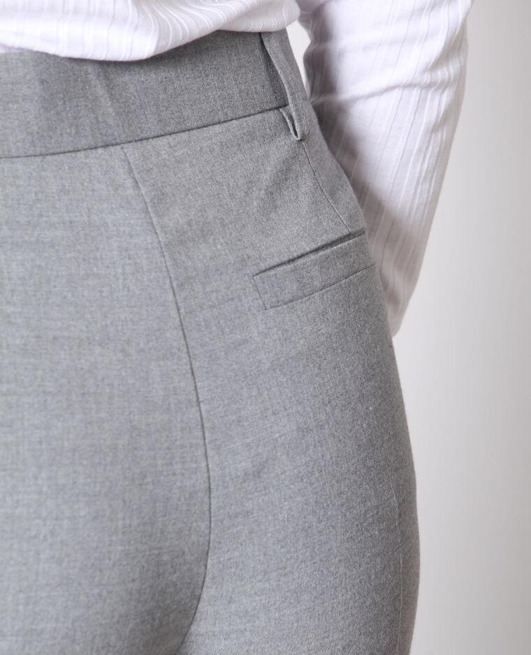 Pantalon cigarette gris chiné
