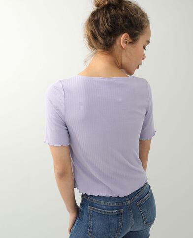 Top à lacet violet - Pimkie