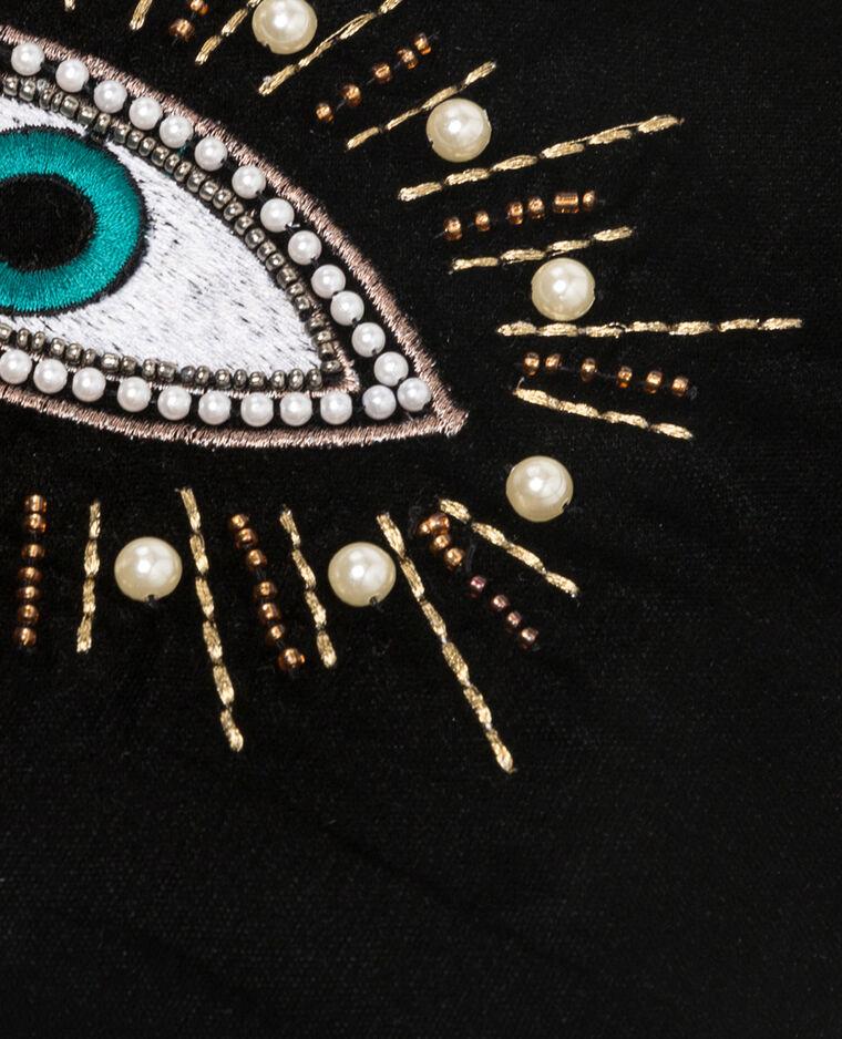 Pochette velours œil noir - Pimkie