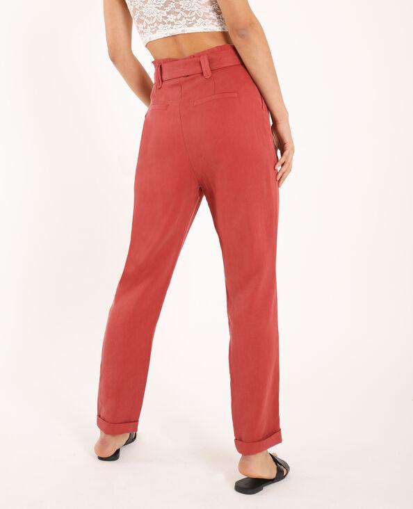 Pantalon carotte rose