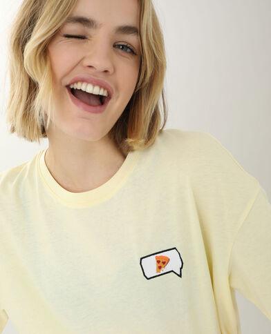 T-shirt brodé jaune