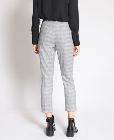 Pantalon city imprimé gris