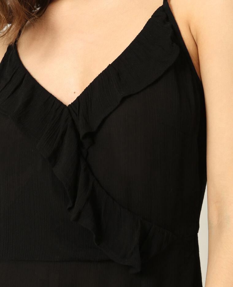 Robe à fines bretelles noir