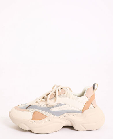 Baskets colorées blanc