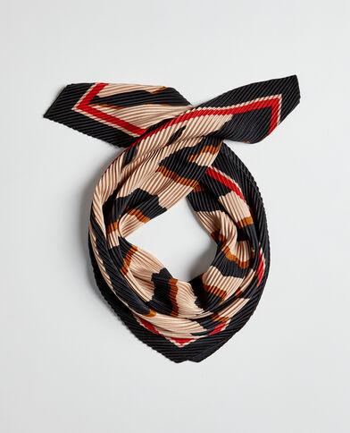 Foulard plissé permanent noir