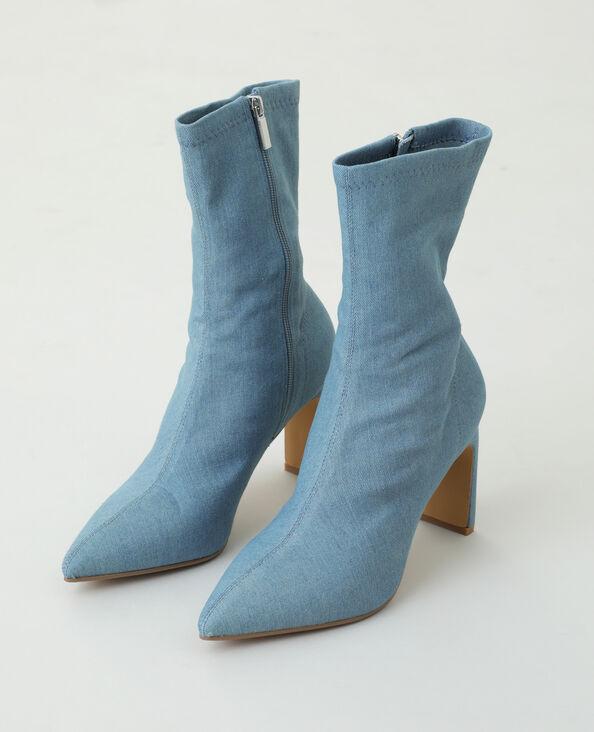 Bottines en jean bleu - Pimkie
