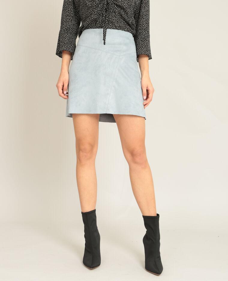 Mini jupe suédine bleu