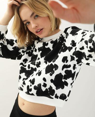 Sweat vache blanc