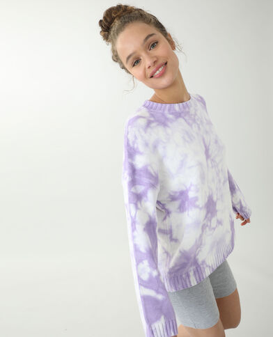 Pull oversize tie and dye violet - Pimkie