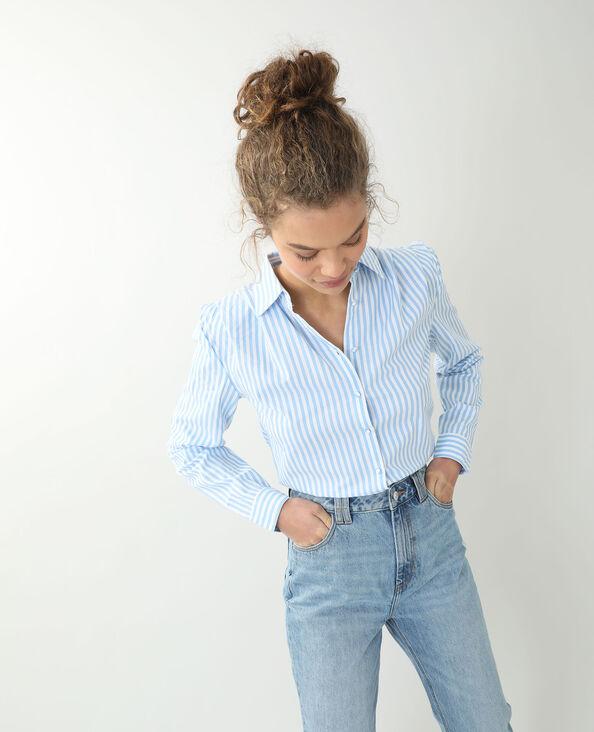 Chemise à épaulettes blanc
