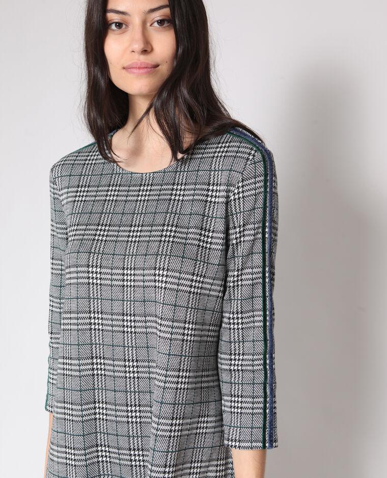 Robe à carreaux gris