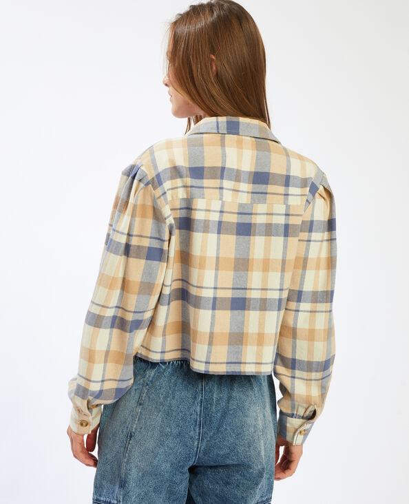 Chemise courte à carreaux Beige - Pimkie