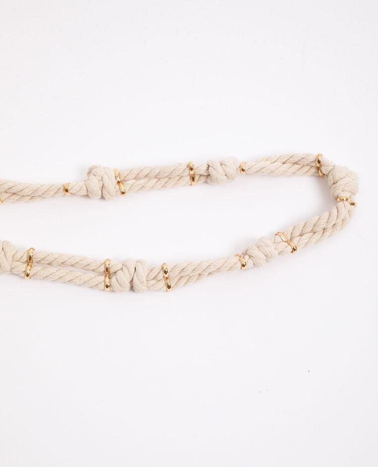 Ceinture en corde blanc