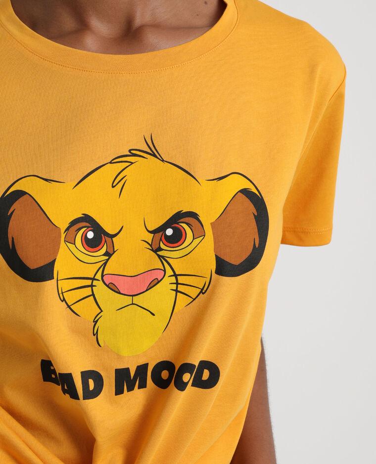T-shirt Le Roi Lion jaune