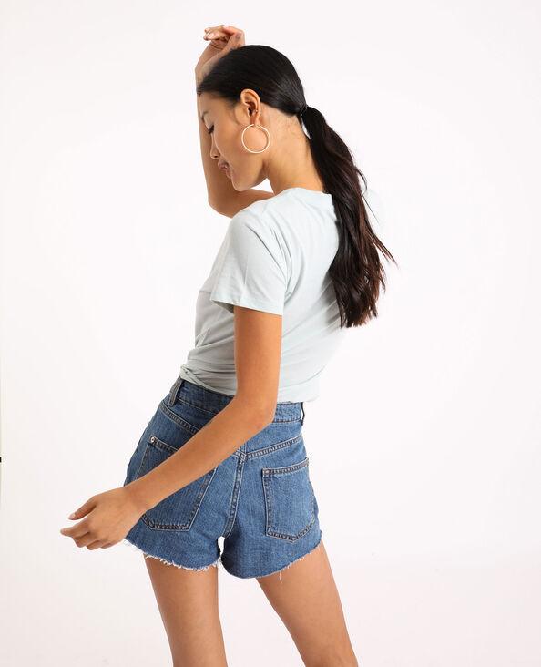 T-shirt basique bleu clair
