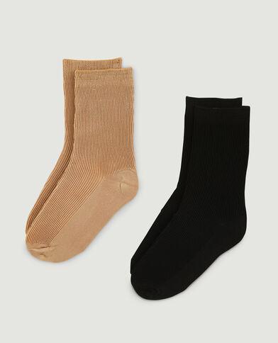 Lot de 2 paires de chaussettes marron - Pimkie