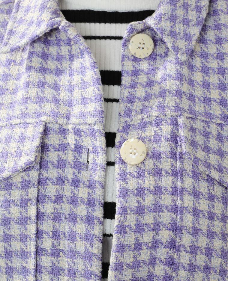 Surchemise en tweed violet