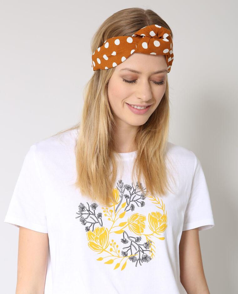Headband à pois brun