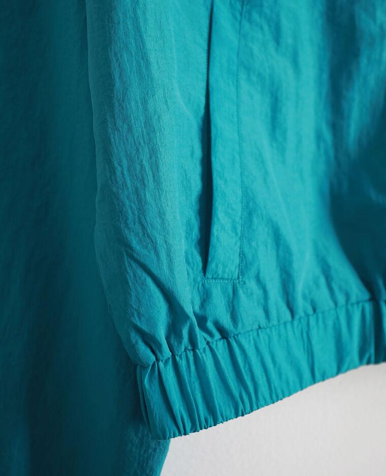 Coupe-vent court bleu