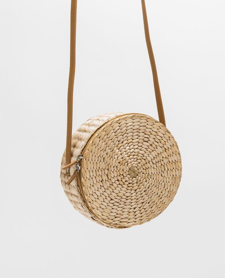 sac rond en paille blanc cass 916518902a09 pimkie. Black Bedroom Furniture Sets. Home Design Ideas