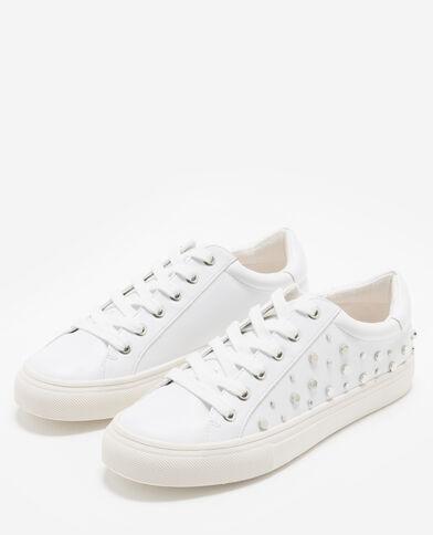 Baskets cloutées blanc