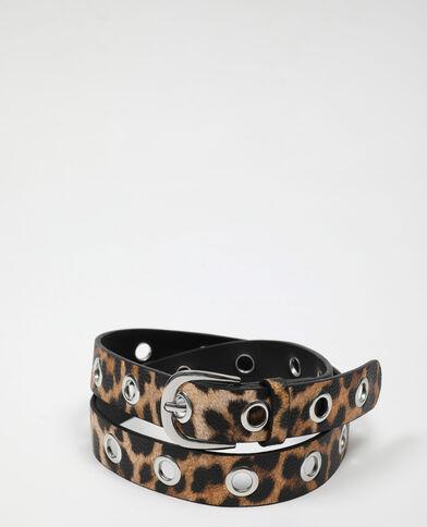 Ceinture léopard beige - Pimkie