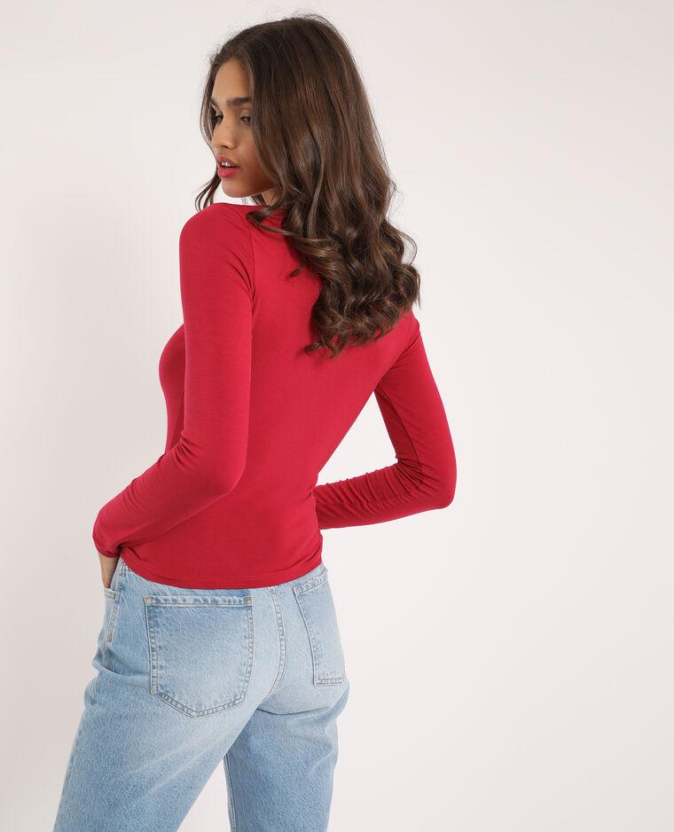 T-shirt froncé rouge