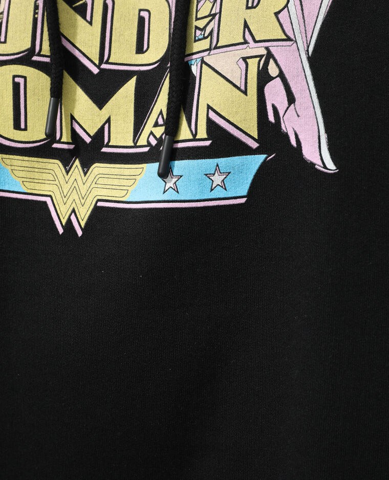 Sweat molleton à capuche Wonder Woman noir - Pimkie