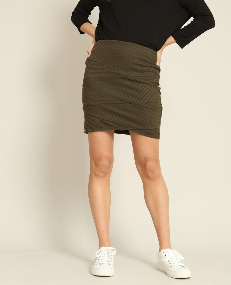 Mini jupe bodycon kaki