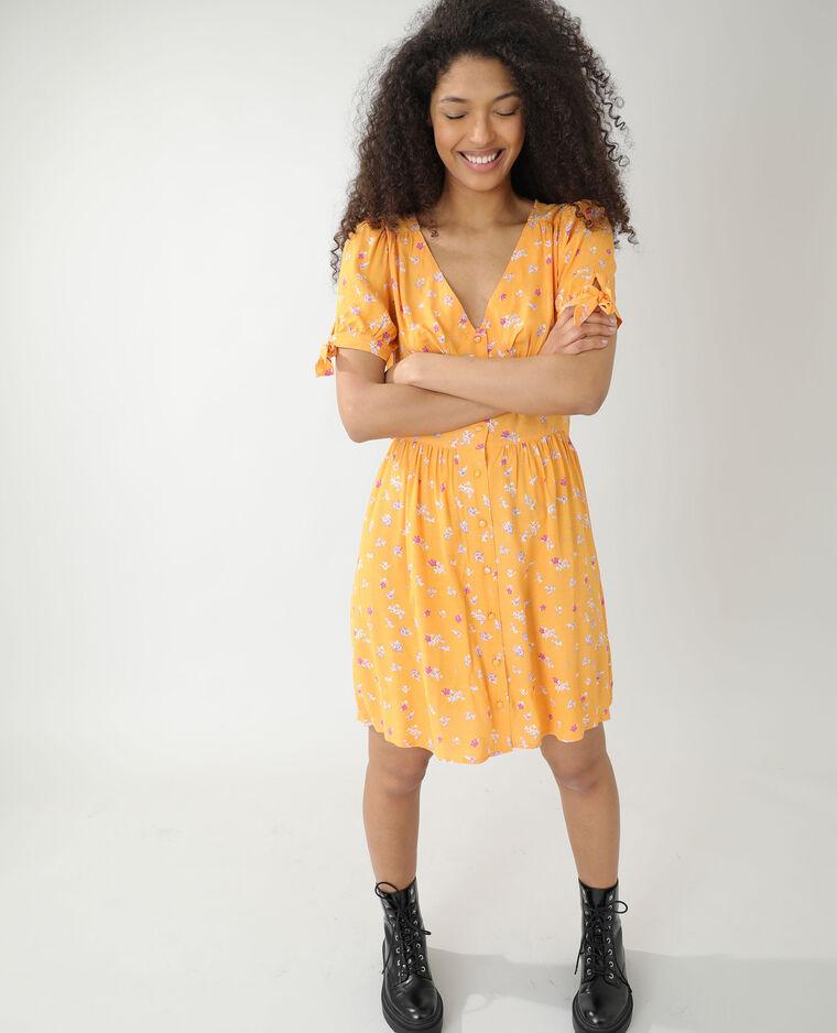 Robe fleurie orange - Pimkie