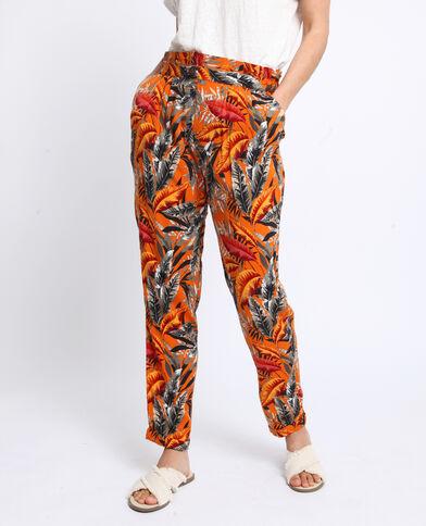 Pantalon à imprimé Orange