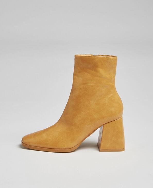 Boots bouts carrés moutarde