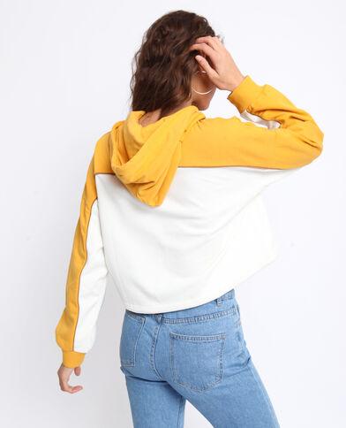 Sweat à capuche jaune