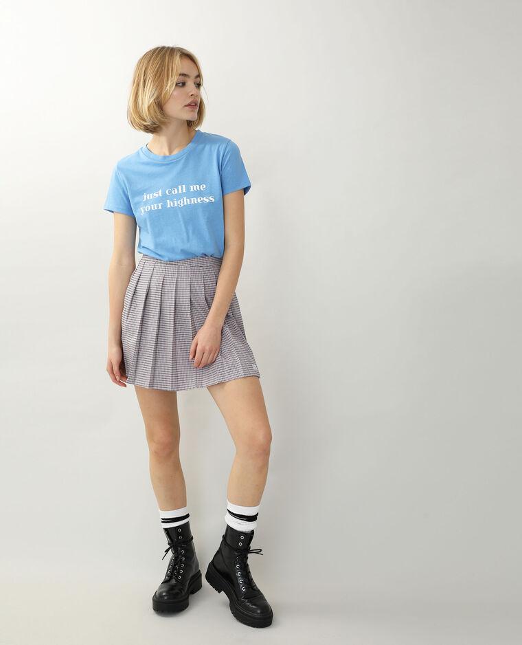 T-shirt à message bleu - Pimkie