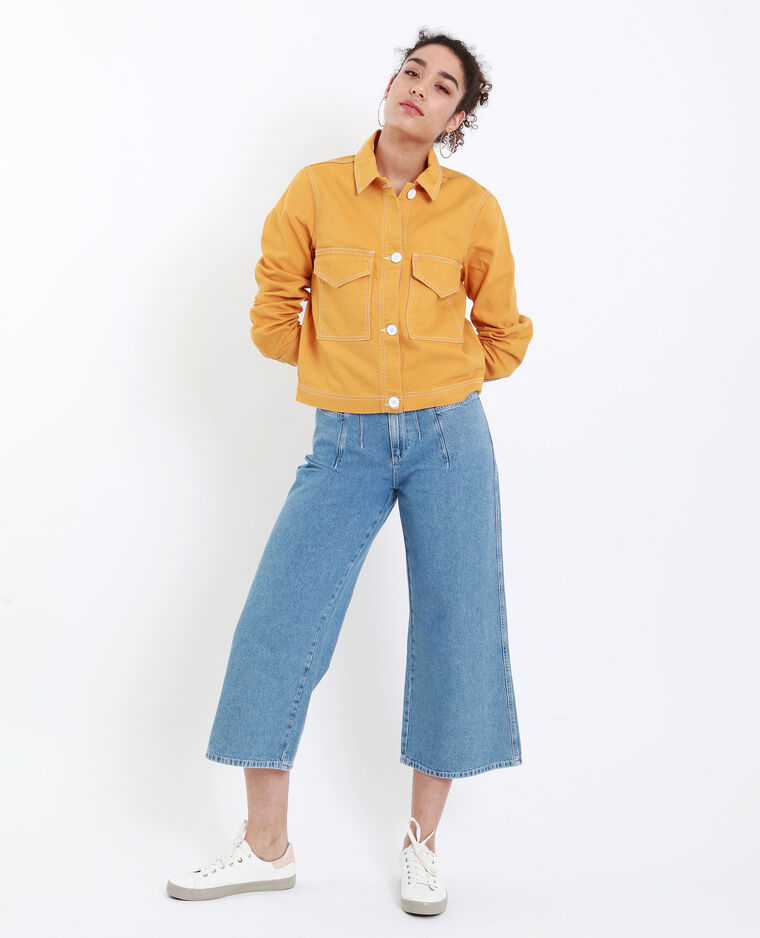 Veste droite jaune