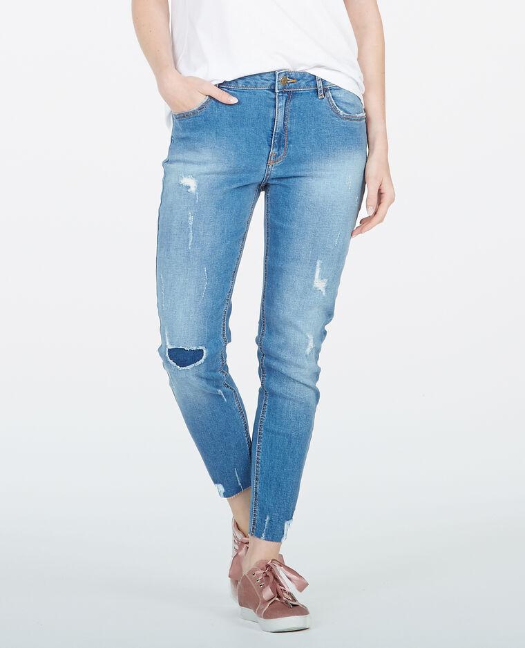 Jean skinny destroy bleu brut